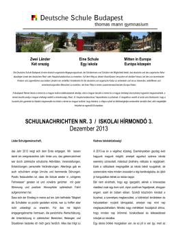Iskolai hírmondó 3. 2013-2014