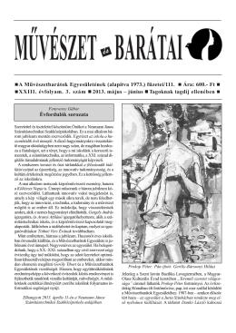 2013 / 3. szám - Művészetbarátok Egyesülete