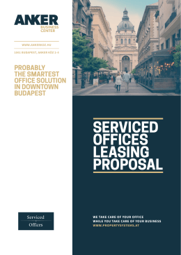 SERVICED OFFICES LEASING PROPOSAL