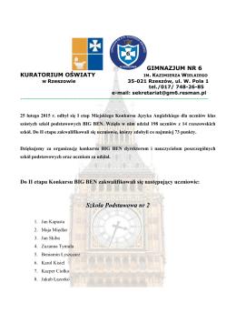 Informacje o szkołach i instytucjach szkoleniowych