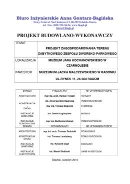 projekt wykonawczy - Dom Pomocy Społecznej w Zochcinku
