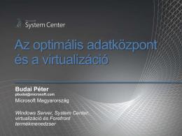Rendszermenedzsment és Virtualizáció