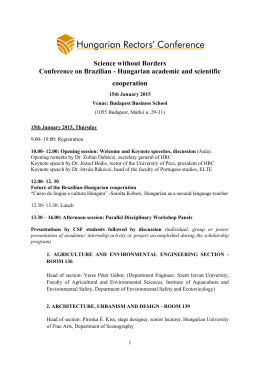 Science without Borders Conference on Brazilian