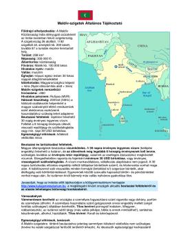 Maldív-szigetek Általános Tájékoztató