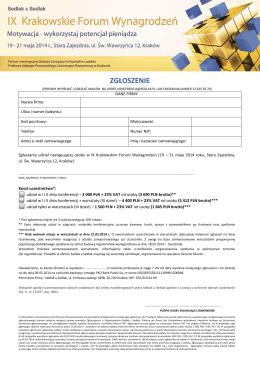 Akademia Wiatru Sp. z o.o. Koszalin, 8 sierpnia 2014 r. ul. Morska