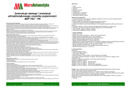 Instrukcja serwisowa dla operatora VIMEK 404T5