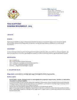 Letoltheto dokumentum - Téka Alapítvány Szamosújvár