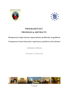 PROGRAMFÜZET PROGRAM & ABSTRACTS
