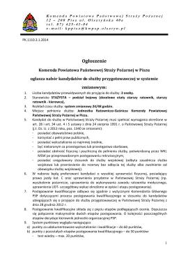 Treść ogłoszenia o naborze - Informacja (plik w formacie pdf)