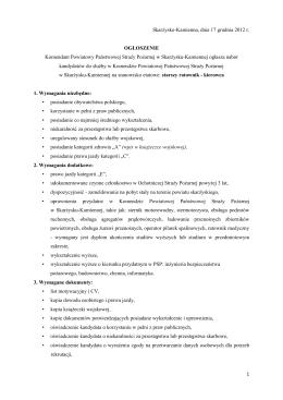złączniku - Komenda Powiatowa Państwowej Straży Pożarnej w