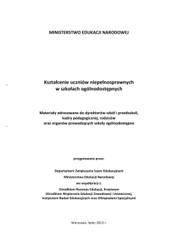 Harmonogram dowozów na rok szkolny 2014/2015