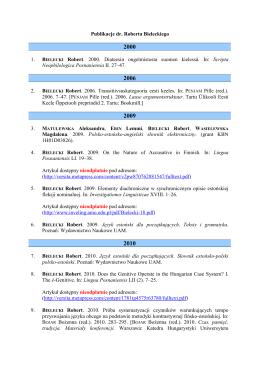 Nieprzekraczalny termin dostarczenia referatów: 15 lipca br. na adres