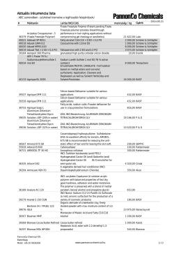Aktuális inkurrencia lista - Pannonco