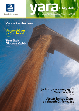 Yara Magazin 2012. augusztus