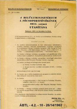 A BELÜGYMINISZTÉRIUM I. FŐCSOPORTFŐNÖKÉNEK 0014