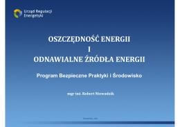 V. Bezpieczeństwo energetyczne i środowisko