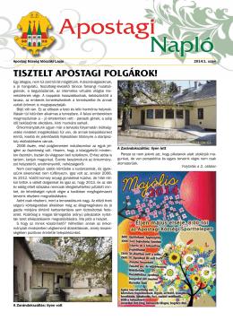 Apostagi napló 2014. 1. szám