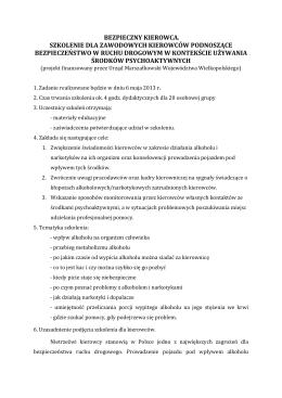 """Sprawozdanie z realizacji zadania nr 5 konkursu """"Bezpieczna"""