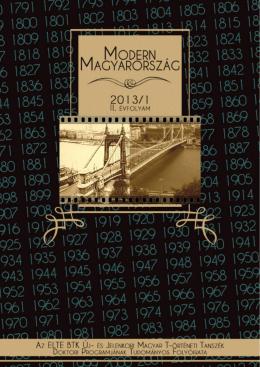 Modern Magyarország 2. évf. (2013) 1. szám