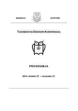 2014. évi TDK Konferencia