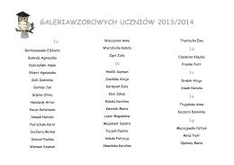 Lista kandydatów - Przedszkole w Zarębie