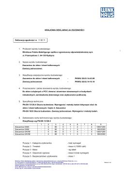 Deklaracja Zgodności Rury spienione SN4 i SN8
