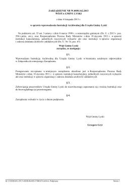 Wykaz akt dla urzędów gmin