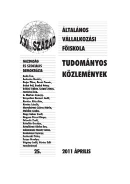 Gazdaság és szociális demokrácia (2011)