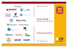 Absztrakt kötet - XXXI. OTDK Informatika Tudományi Szekció