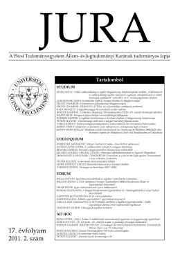 2011. évi 2. szám - JURA