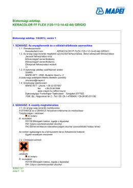 Mapei Keracolor FF Flex fugázóhabarcs biztonsági adatlap B