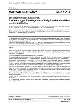MAGYAR NÉPKÖZTÁRSASÁG MSZ-04-82/2-85