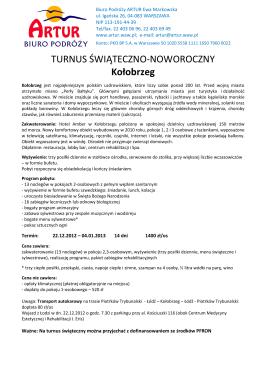 REGULAMIN - Ośrodek Chopinowski