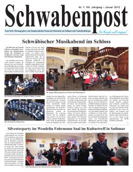 Schwäbischer Musikabend im Schloss