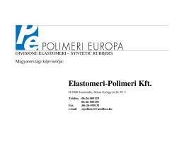 Elastomeri-Polimeri Kft.