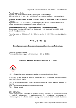 HARMONOGRAM MATUR W ROKU SZKOLNYM 2014/2015