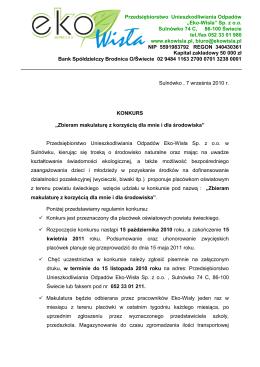 Powiatowy Urząd Pracy w Wągrowcu ROZLICZENIE KOSZTÓW