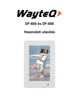 DF-600 és DF-800 Használati utasítás