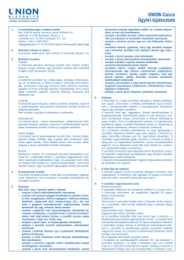 Union gépjármű biztosítási feltételek