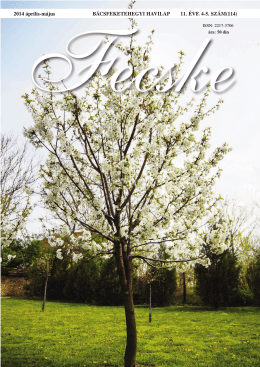 Fecske 2014 április-május 11.évfolyam 4-5. Szám