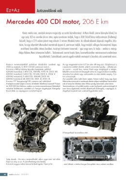 Mercedes 400 CDI motor, 206 E km