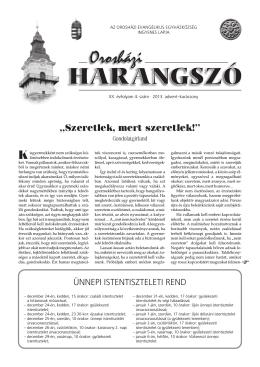 """""""Szeretlek, mert szeretlek!"""" - Magyarországi Evangélikus Egyház"""