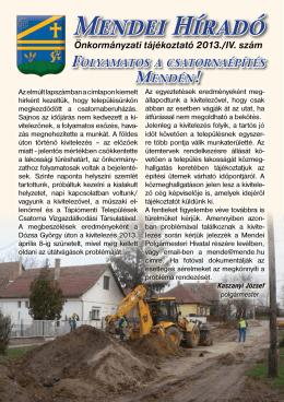 Híradó 2013. IV. szám