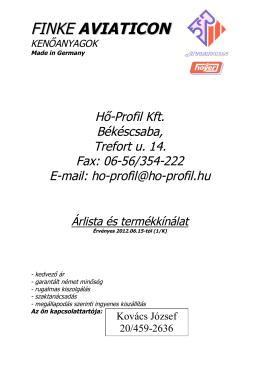 FINKE AVIATICON - Hő-Profil Kft.