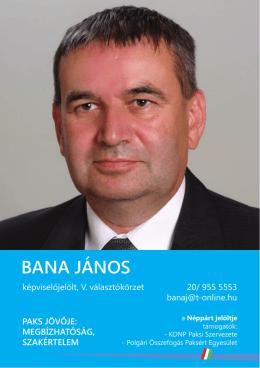 Bana János programja