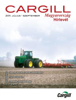Cargill Magyarország hírlevél 2011. III. negyedév