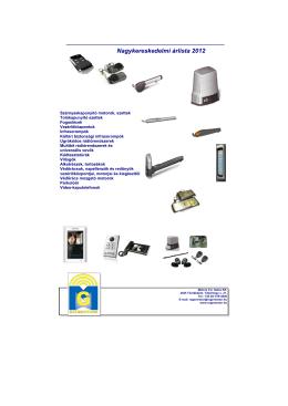 Nagykereskedelmi árlista 2012