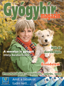 2010. november - Gyógyhír Magazin