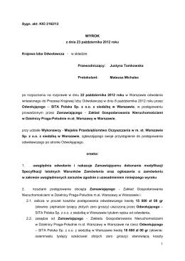wyrok - Prawo zamówień publicznych
