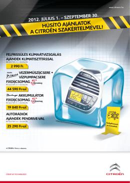 Hűsítő ajánlatok a CitroËn szakértelmével! - Kaposvár